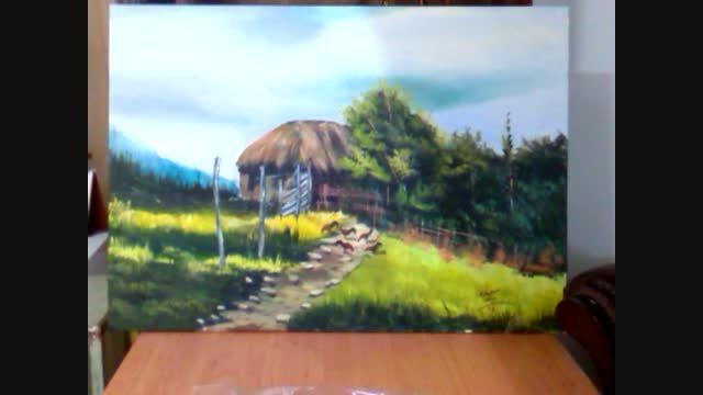 اولین نقاشی من با رنگ روغن