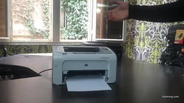 تست پرینتر لیزری HP p1102 بدون نیاز به کامپیوتر