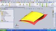 117-بریدن قطعه با استفاده از یک سطح در solidworks