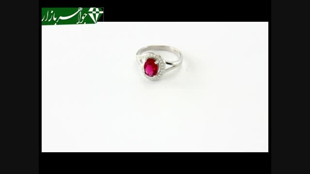 انگشتر نقره نگین سرخ طرح پرنسس زنانه - کد 6942