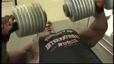 200 lb. Dumbbell Press ronnie coleman