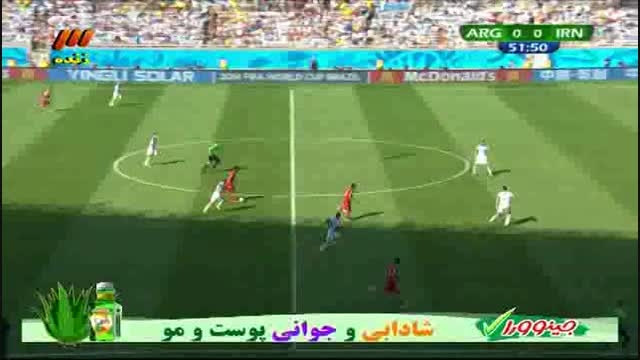 دریبل خوردن بازیکنان آرژانتین از مسعود شجاعی