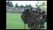 وقتی که زنبورها مسابقه فوتبال را تعطیل میکنند
