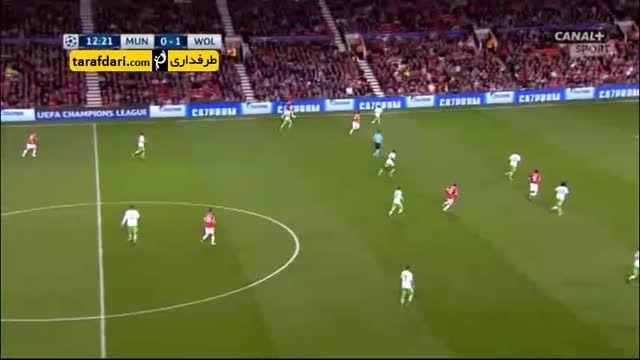 خلاصه بازی منچستر یونایتد 2-1 وولفسبورگ