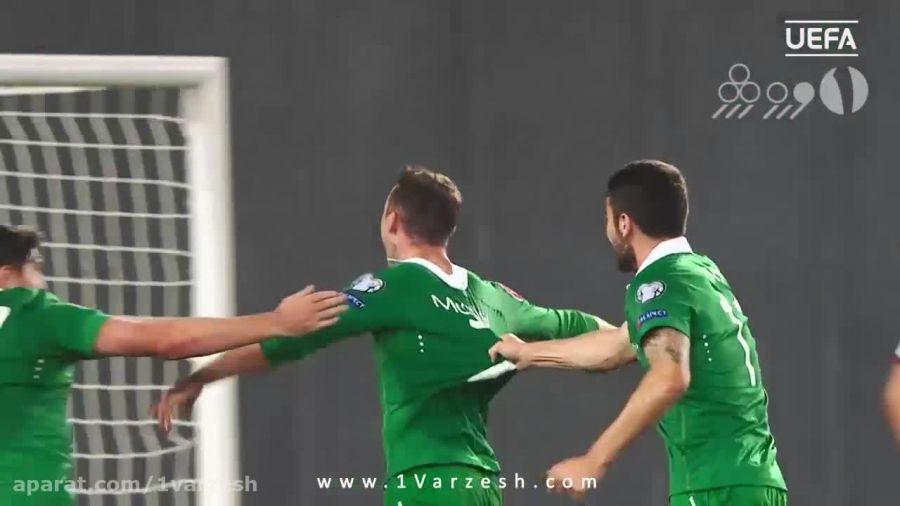 ۵ گل برتر تیم ایرلند در مقدماتی یورو ۲۰۱۶