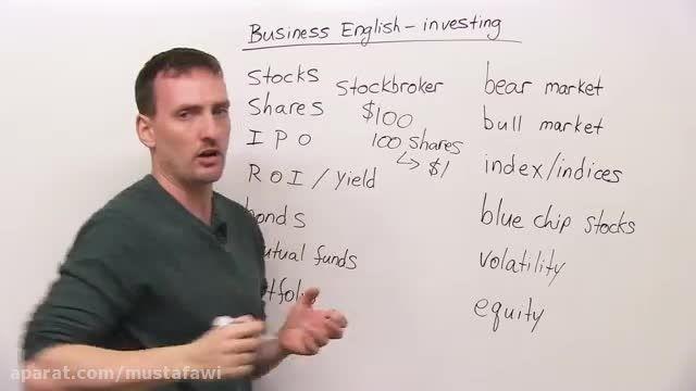 آموزش لغات جدید زبان انگلیسی (صحبت درباره ی بازار بورس)