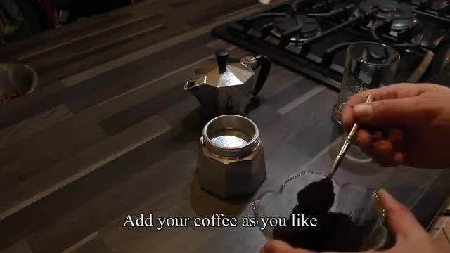 آموزش آماده کردن قهوه با موکا اکسپرس بیالتی