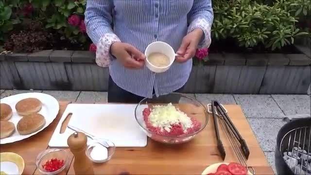طرز تهیه همبرگر کبابی