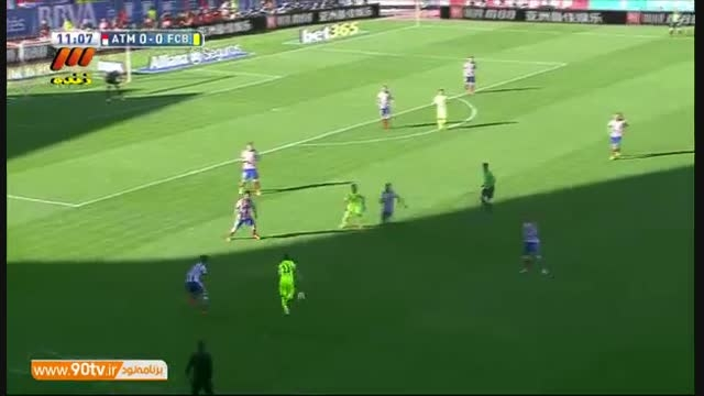 خلاصه بازی: اتلتیکومادرید ۰-۱ بارسلونا/قهرمانی بارسلونا