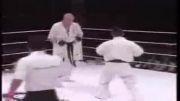 مبارزه کیوکوشین با MMA -کوروساوا از ژاپن با میندرت از روسیه-کروساوا واقعا شجاعانه بازی کرد