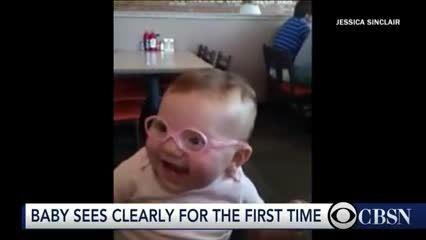 عکس العمل کودک پس از واضح دیدن والدینش برای اولین بار!!