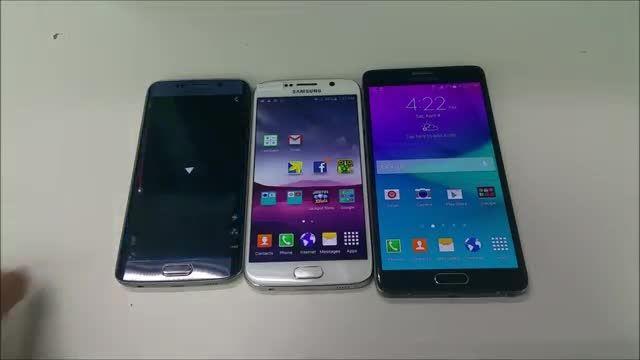 Samsung Galaxy S6 vs S6 Edge vs Note 4 - Flagship Batt