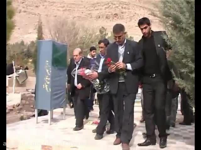 حضور سردار جواد درویش وند در گلزار شهدای خرم آباد