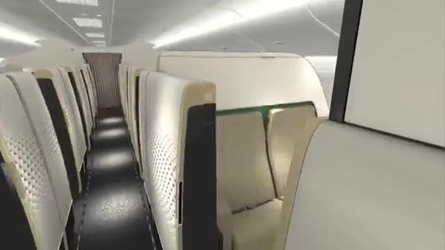 سوئیت مجلل در هواپیمای ایرباس