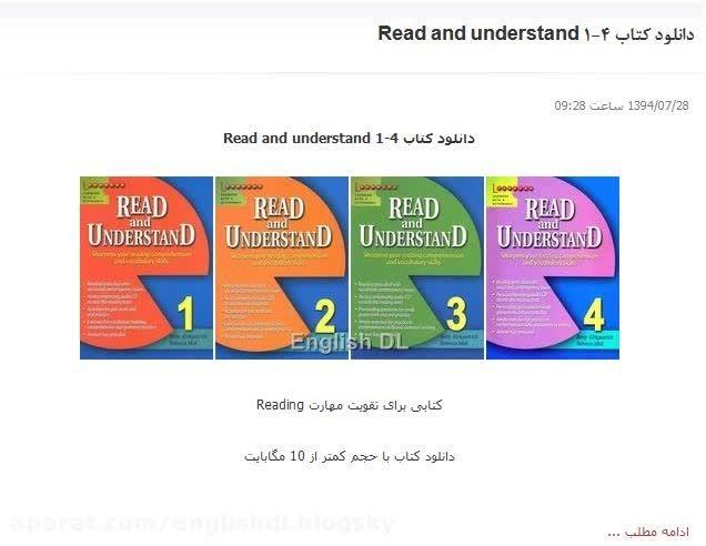 دانلود کتاب Read and understand 1-4