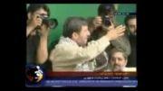 احمدی نژاد: شمشیرزن با شمشیر میزند، نیزه انداز با نیزه