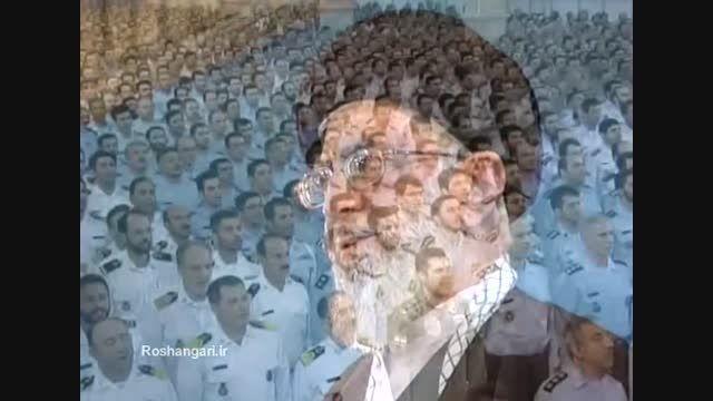 اجرای سرود جمهوری اسلامی ایران در حضور امام خامنه ای