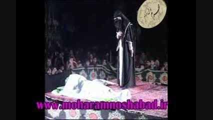 تعزیه حضرت زهرا(س)قسمت جان دادن تعزیه نوش آباد