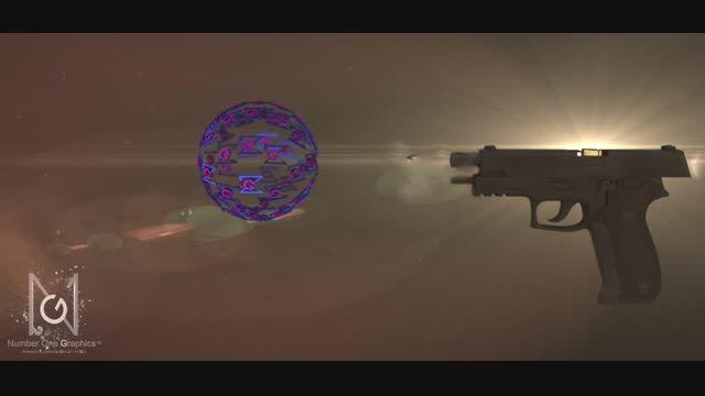 موشن گرافیک سه بعدی - شلیک اسلحه