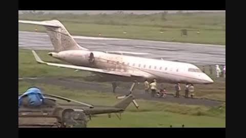 خارج شدن هواپیمای فیلیپینی از باند فرودگاه