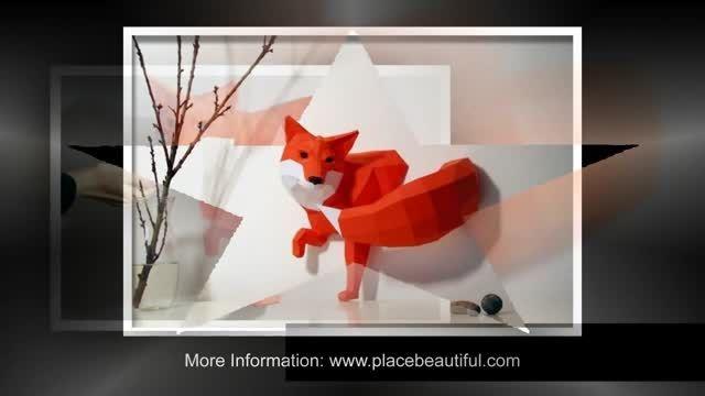 حیوانات کاغذی روی دیوار - اتاق کودک