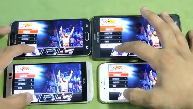 Galaxy S6 Vs Iphone 6 Vs One M9 Vs Note 4 _WWE 2K