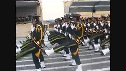 رژه زیبا از دانشجویان دانشگاه پلیس