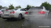 Nissan R35 GT-R vs BMW E92 M3 w_ F1 SuperSprint Exhaust!