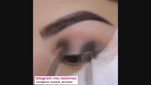 میکاپ چشم با سایه و خط چشم زیبا در تارمو