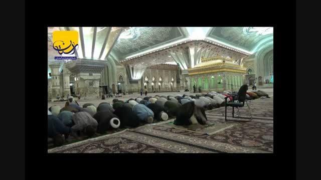 نماز جماعت هفدهم ماه مبارک رمضان در حرم امام خمینی (س)