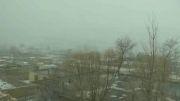 جلوه های زیبای بارش برف امروز سی ام بهمن 92 در ایردموسی