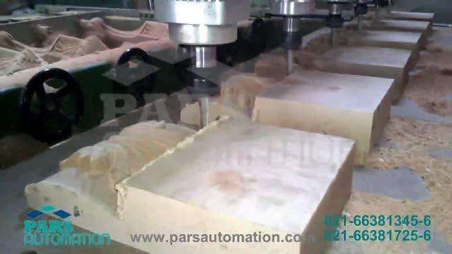 حکاکی روی چوب CNC- سی ان سی کتیبه ی چوبی- کنترلر adtech