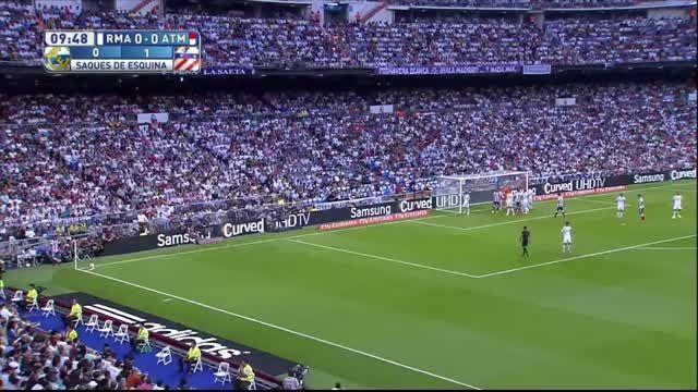 گل های بازی رئال مادرید 1 - 2 اتلتیکو مادرید