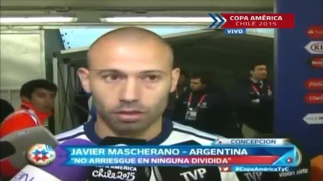 مصاحبه ماسکرانو پس از بازی مقابل پاراگوئه(کوپا آمریکا)