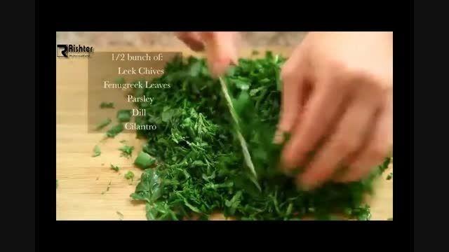 آموزش سبزی پلو با ماهی به زبان فارسی