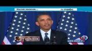زن آمریکایی اوباما را غافلگیر کرد