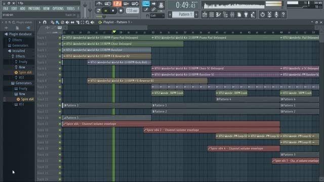 آهنگ الکترونیک در اف ال استودیو