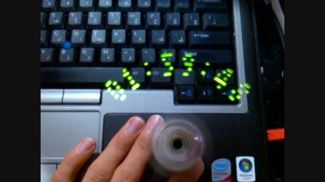 ساعت دیجیتال با LED های چرخان