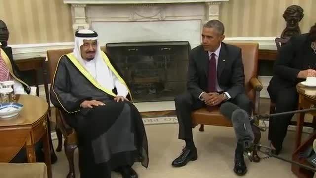 خوش آمد گویی اوباما به ملک سلمان پادشاه عربستان
