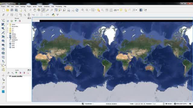 آموزش دانلود و ژئورفرنس تصاویر گوگل ارث در QGIS