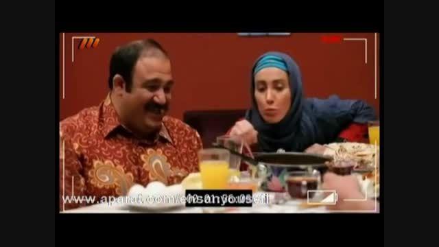 پشت صحنه سریال در حاشیه - صبحانه خوردن مهران غفوریان