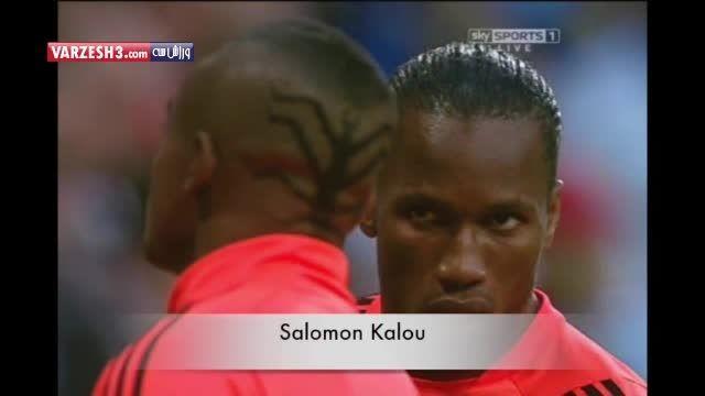 عجیب ترین مدل موهای فوتبالیست ها