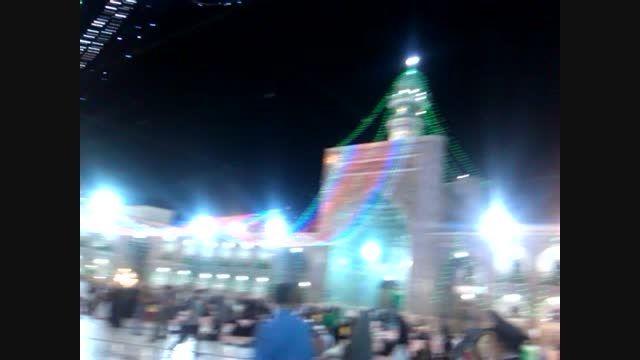 حرم امام رضا(ع)در شب میلاد امام حسن مجتبی/11تیر1394