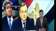 تعقیب وزیر خارجه مصر در راهروهای کنگره آمریکا
