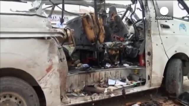 الشباب اتوبوس اتوبوس کارکنان سازمان ملل را منفجر کرد