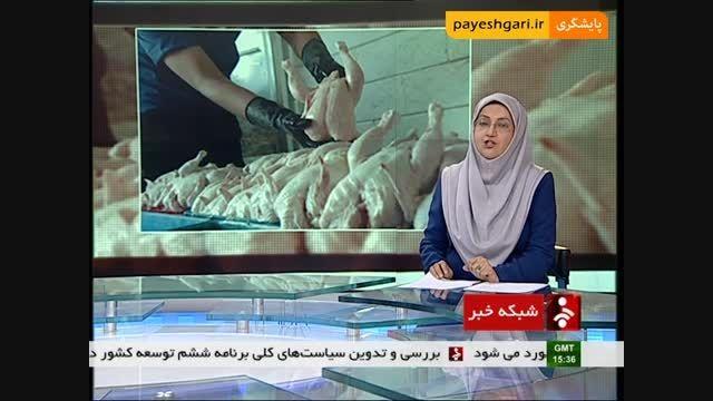 کاهش قیمت مرغ گرم از ابتدای اسفند ماه