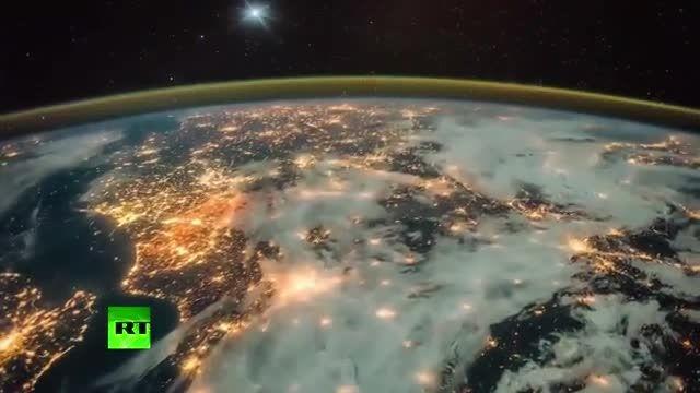 * زمین از ایستگاه فضایی،،فوق العاده زیبا و دیدنی *