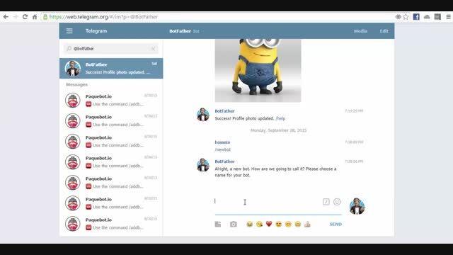 آموزش ساخت ربات تلگرام با کمک botsaz.com