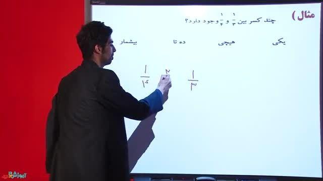 کسر متعارفی از ریاضی ششم دبستان - سعید اصحابی