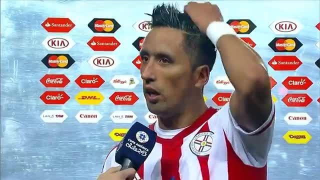 مصاحبه باریوس پس از بازی مقابل آرژانتین (کوپا آمریکا)